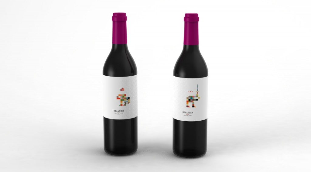 3D wine bottle 02